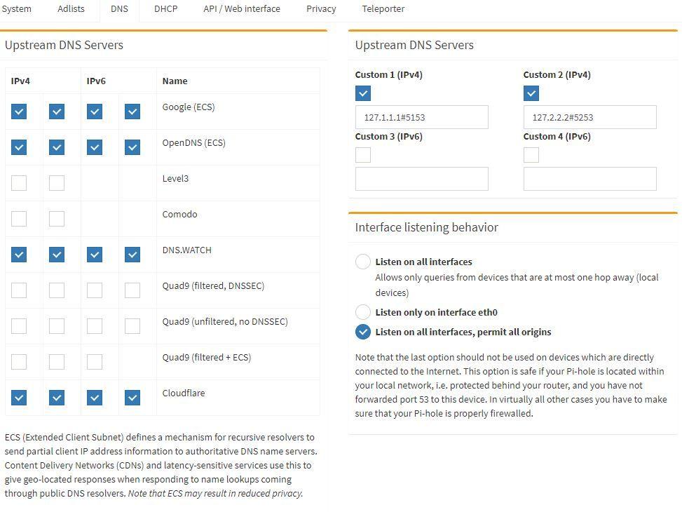 pihole-dns-google-cloudflare-etc